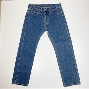 Levi's 505 Regular Fit 34 x 32 Blue Denim Jeans